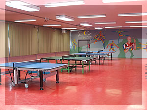 Salle de tennis de table
